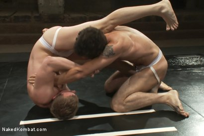 Photo number 5 from Trent Diesel & DJ vs Cameron Adams & Leo Forte <br> The Tag Team Match shot for Naked Kombat on Kink.com. Featuring DJ, Cameron Adams, Trent Diesel and Leo Forte in hardcore BDSM & Fetish porn.