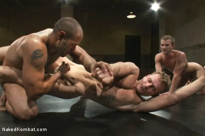 Photo number 7 from Trent Diesel & DJ vs Cameron Adams & Leo Forte <br> The Tag Team Match shot for Naked Kombat on Kink.com. Featuring DJ, Cameron Adams, Trent Diesel and Leo Forte in hardcore BDSM & Fetish porn.