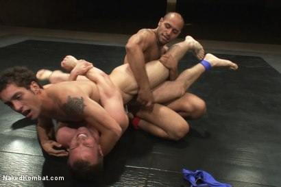 Photo number 2 from Trent Diesel & DJ vs Cameron Adams & Leo Forte <br> The Tag Team Match shot for Naked Kombat on Kink.com. Featuring DJ, Cameron Adams, Trent Diesel and Leo Forte in hardcore BDSM & Fetish porn.