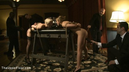 Photo number 1 from Dom's Dinner Party! shot for The Upper Floor on Kink.com. Featuring Cherry Torn, Jessie Cox, Kait Snow, Holly Heart and Maestro in hardcore BDSM & Fetish porn.