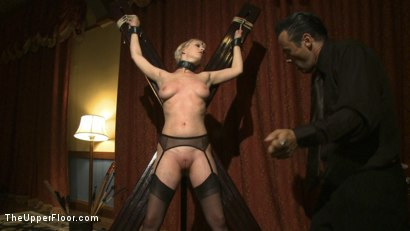 Photo number 6 from Dom's Dinner Party! shot for The Upper Floor on Kink.com. Featuring Cherry Torn, Jessie Cox, Kait Snow, Holly Heart and Maestro in hardcore BDSM & Fetish porn.