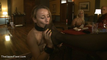 Photo number 8 from Dom's Dinner Party! shot for The Upper Floor on Kink.com. Featuring Cherry Torn, Jessie Cox, Kait Snow, Holly Heart and Maestro in hardcore BDSM & Fetish porn.