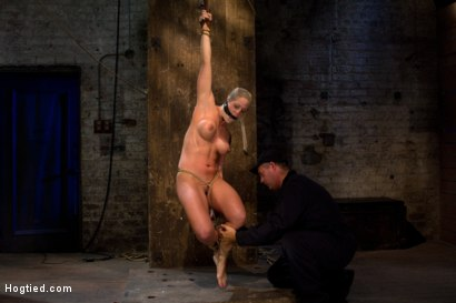 Photo number 5 from Very intense SM scene with hot blond.<br>Pushed to the edge of sanity and back.<br>Brutal Orgasms shot for Hogtied on Kink.com. Featuring Holly Heart in hardcore BDSM & Fetish porn.