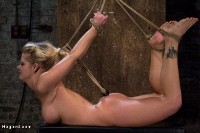 Photo number 10 from Local fitness model suffers the most horrific, painful bondage suspension there is.<br>CATEGORY 5  shot for Hogtied on Kink.com. Featuring Holly Heart in hardcore BDSM & Fetish porn.