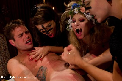 Photo number 8 from La Semence Des Vampires shot for Divine Bitches on Kink.com. Featuring Aiden Starr, Bobbi Starr, Nika Noire and John Jammen in hardcore BDSM & Fetish porn.