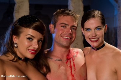 Photo number 9 from La Semence Des Vampires shot for Divine Bitches on Kink.com. Featuring Aiden Starr, Bobbi Starr, Nika Noire and John Jammen in hardcore BDSM & Fetish porn.