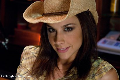 Photo number 1 from The Starlet of The Year Fucks Machines in a Cowboy Bar shot for Fucking Machines on Kink.com. Featuring Chanel Preston in hardcore BDSM & Fetish porn.