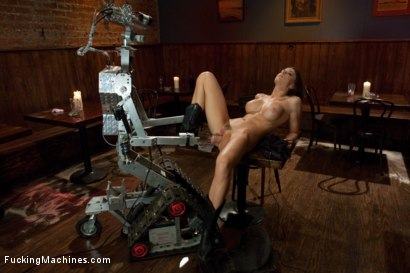 Photo number 2 from Long legs Strandling Robot Cock in a Cowboy Bar shot for Fucking Machines on Kink.com. Featuring Chanel Preston in hardcore BDSM & Fetish porn.