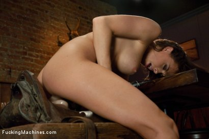 Photo number 13 from Long legs Strandling Robot Cock in a Cowboy Bar shot for Fucking Machines on Kink.com. Featuring Chanel Preston in hardcore BDSM & Fetish porn.