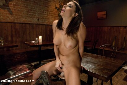 Photo number 12 from Long legs Strandling Robot Cock in a Cowboy Bar shot for Fucking Machines on Kink.com. Featuring Chanel Preston in hardcore BDSM & Fetish porn.