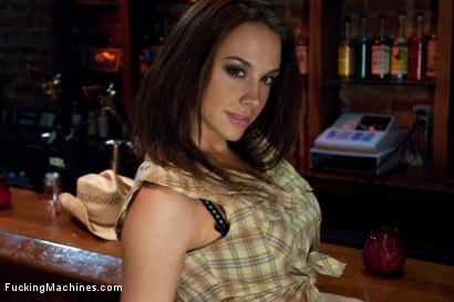 Photo number 1 from Long legs Strandling Robot Cock in a Cowboy Bar shot for Fucking Machines on Kink.com. Featuring Chanel Preston in hardcore BDSM & Fetish porn.