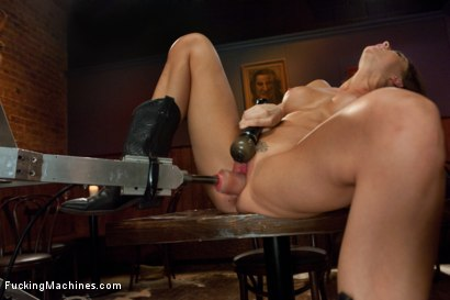 Photo number 6 from Long legs Strandling Robot Cock in a Cowboy Bar shot for Fucking Machines on Kink.com. Featuring Chanel Preston in hardcore BDSM & Fetish porn.