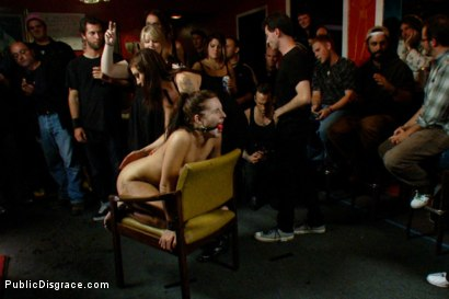 Photo number 8 from Party Crashers shot for Public Disgrace on Kink.com. Featuring James Deen and Ashli  Orion in hardcore BDSM & Fetish porn.