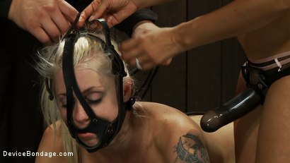 Photo number 1 from Hot Blond BDSM Slave get bound in hard metal<br>Brutally fucked by James Dean & Isis Love shot for Device Bondage on Kink.com. Featuring Lorelei Lee, Isis Love and James Deen in hardcore BDSM & Fetish porn.