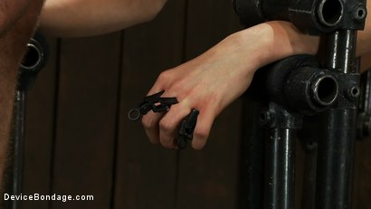 Photo number 13 from Hot Blond BDSM Slave get bound in hard metal<br>Brutally fucked by James Dean & Isis Love shot for Device Bondage on Kink.com. Featuring Lorelei Lee, Isis Love and James Deen in hardcore BDSM & Fetish porn.