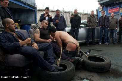 Photo number 6 from Car Whore  shot for Bound in Public on Kink.com. Featuring Spencer Reed and Gianni Luca in hardcore BDSM & Fetish porn.