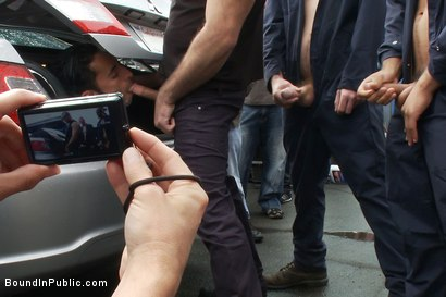 Photo number 9 from Car Whore  shot for Bound in Public on Kink.com. Featuring Spencer Reed and Gianni Luca in hardcore BDSM & Fetish porn.