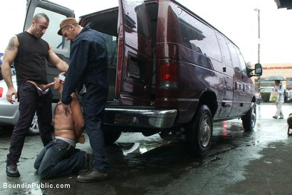 Photo number 8 from Car Whore  shot for Bound in Public on Kink.com. Featuring Spencer Reed and Gianni Luca in hardcore BDSM & Fetish porn.