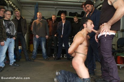 Photo number 2 from Car Whore  shot for Bound in Public on Kink.com. Featuring Spencer Reed and Gianni Luca in hardcore BDSM & Fetish porn.