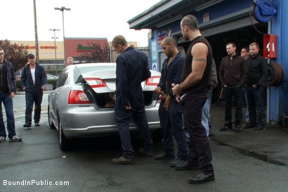 Photo number 5 from Car Whore  shot for Bound in Public on Kink.com. Featuring Spencer Reed and Gianni Luca in hardcore BDSM & Fetish porn.