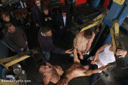 Photo number 12 from Car Whore  shot for Bound in Public on Kink.com. Featuring Spencer Reed and Gianni Luca in hardcore BDSM & Fetish porn.