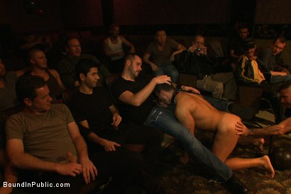 Photo number 8 from The Nob Hill Theater Slut shot for Bound in Public on Kink.com. Featuring Dominik Rider and Tristan Jaxx in hardcore BDSM & Fetish porn.