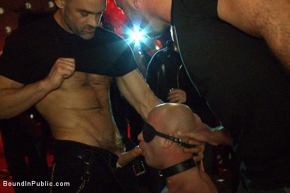 Photo number 4 from Live Shoot: Bound In Public Launch Party shot for Bound in Public on Kink.com. Featuring Patrick Rouge and Josh West in hardcore BDSM & Fetish porn.