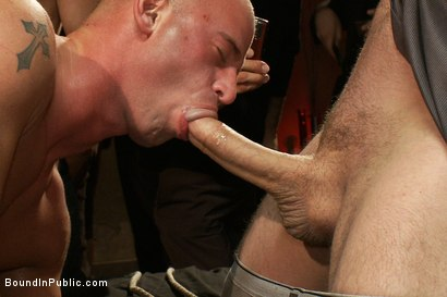 Photo number 14 from Live Shoot: Bound In Public Launch Party shot for Bound in Public on Kink.com. Featuring Patrick Rouge and Josh West in hardcore BDSM & Fetish porn.