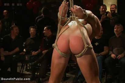 Photo number 5 from Live Shoot: Bound In Public Launch Party shot for Bound in Public on Kink.com. Featuring Patrick Rouge and Josh West in hardcore BDSM & Fetish porn.