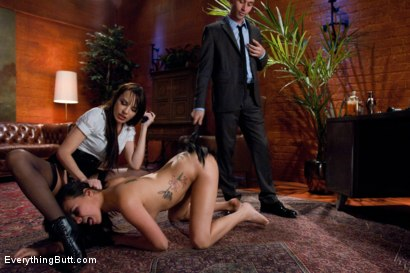 Photo number 9 from Fresh Meat for the Warden shot for Everything Butt on Kink.com. Featuring James Deen, Dana DeArmond and Danica Dillon in hardcore BDSM & Fetish porn.