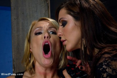Photo number 5 from Big tittied blonde MILF gets shocked and made to cum.  shot for Wired Pussy on Kink.com. Featuring Princess Donna Dolore and Mellanie Monroe in hardcore BDSM & Fetish porn.