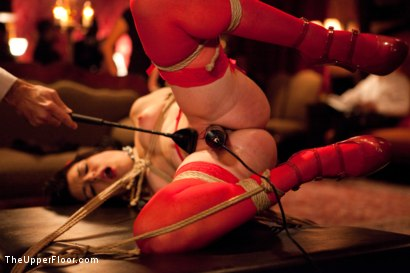 Photo number 4 from Thanksgiving Feast shot for The Upper Floor on Kink.com. Featuring Gia DiMarco, Juliette March, Zak Tyler and Krysta Kaos in hardcore BDSM & Fetish porn.