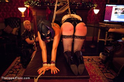 Photo number 21 from XXXmas Party shot for The Upper Floor on Kink.com. Featuring Sparky Sin Claire, Coffee Brown, Iona Grace and Jack Hammer in hardcore BDSM & Fetish porn.