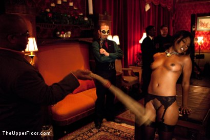 Photo number 4 from XXXmas Party shot for The Upper Floor on Kink.com. Featuring Sparky Sin Claire, Coffee Brown, Iona Grace and Jack Hammer in hardcore BDSM & Fetish porn.