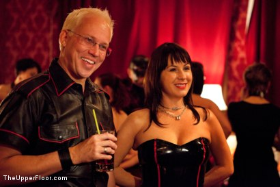 Photo number 1 from XXXmas Party shot for The Upper Floor on Kink.com. Featuring Sparky Sin Claire, Coffee Brown, Iona Grace and Jack Hammer in hardcore BDSM & Fetish porn.
