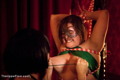 Photo number 14 from XXXmas Party shot for The Upper Floor on Kink.com. Featuring Sparky Sin Claire, Coffee Brown, Iona Grace and Jack Hammer in hardcore BDSM & Fetish porn.