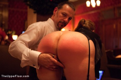 Photo number 17 from XXXmas Party shot for The Upper Floor on Kink.com. Featuring Sparky Sin Claire, Coffee Brown, Iona Grace and Jack Hammer in hardcore BDSM & Fetish porn.