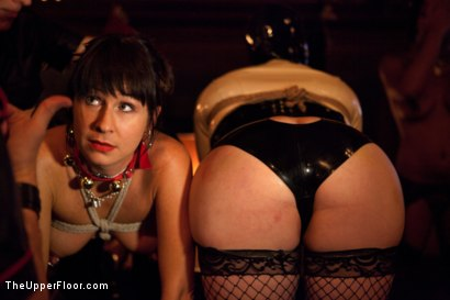 Photo number 20 from XXXmas Party shot for The Upper Floor on Kink.com. Featuring Sparky Sin Claire, Coffee Brown, Iona Grace and Jack Hammer in hardcore BDSM & Fetish porn.