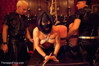 Photo number 22 from XXXmas Party shot for The Upper Floor on Kink.com. Featuring Sparky Sin Claire, Coffee Brown, Iona Grace and Jack Hammer in hardcore BDSM & Fetish porn.