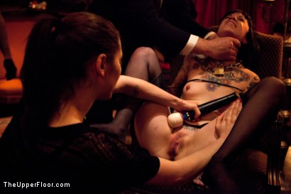Photo number 6 from XXXmas Party shot for The Upper Floor on Kink.com. Featuring Sparky Sin Claire, Coffee Brown, Iona Grace and Jack Hammer in hardcore BDSM & Fetish porn.