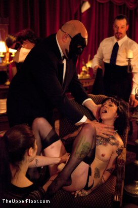 Photo number 10 from XXXmas Party shot for The Upper Floor on Kink.com. Featuring Sparky Sin Claire, Coffee Brown, Iona Grace and Jack Hammer in hardcore BDSM & Fetish porn.