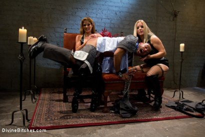 Photo number 3 from New male sub falls deep into sub space like never seen before on Divine Bitches. shot for Divine Bitches on Kink.com. Featuring Dia Zerva, Leo Forte and Felony in hardcore BDSM & Fetish porn.
