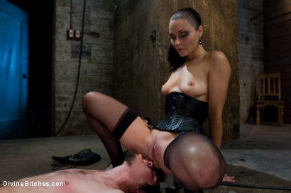 Photo number 4 from Pathetic Little Floor Mat: Episode 1 <br> Dylan Deap shot for Divine Bitches on Kink.com. Featuring Ms Kim and Dylan Deap in hardcore BDSM & Fetish porn.