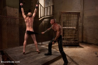 Photo number 10 from A Bound Gods member gets tied up, abused and fucked till he begs for mercy. shot for Bound Gods on Kink.com. Featuring Nick Moretti and Mike Tanner in hardcore BDSM & Fetish porn.