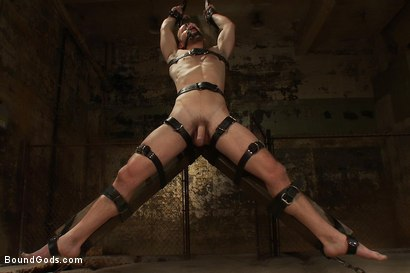 Photo number 2 from A Bound Gods member gets tied up, abused and fucked till he begs for mercy. shot for Bound Gods on Kink.com. Featuring Nick Moretti and Mike Tanner in hardcore BDSM & Fetish porn.