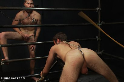 Photo number 10 from Hayden Russo bound for the first time shot for Bound Gods on Kink.com. Featuring Van Darkholme, Matthew Singer and Hayden Russo in hardcore BDSM & Fetish porn.