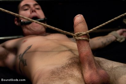Photo number 8 from Hayden Russo bound for the first time shot for Bound Gods on Kink.com. Featuring Van Darkholme, Matthew Singer and Hayden Russo in hardcore BDSM & Fetish porn.