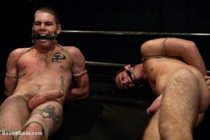 Photo number 3 from Hayden Russo bound for the first time shot for Bound Gods on Kink.com. Featuring Van Darkholme, Matthew Singer and Hayden Russo in hardcore BDSM & Fetish porn.