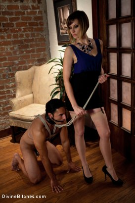 Photo number 15 from Maitresse Madeline cuckolds her boyfriend with a woman! shot for Divine Bitches on Kink.com. Featuring Gia DiMarco, Maitresse Madeline Marlowe  and Gianni Luca in hardcore BDSM & Fetish porn.