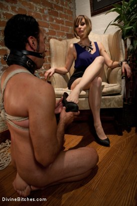 Photo number 9 from Maitresse Madeline cuckolds her boyfriend with a woman! shot for Divine Bitches on Kink.com. Featuring Gia DiMarco, Maitresse Madeline Marlowe  and Gianni Luca in hardcore BDSM & Fetish porn.